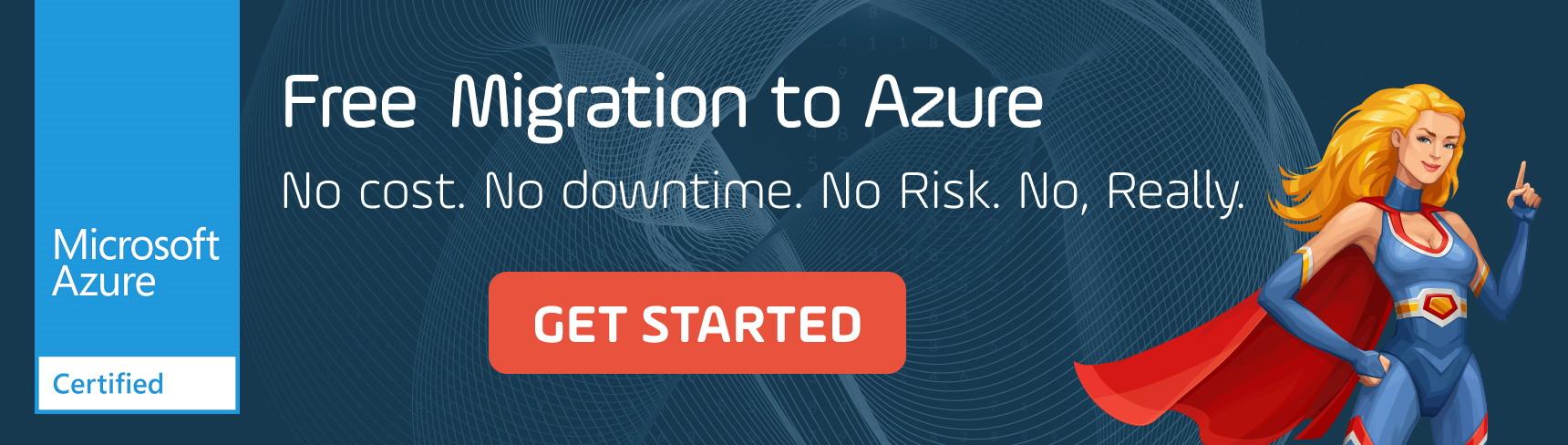 Free cloud migration offer banner